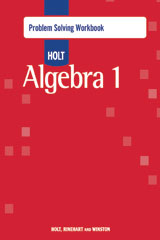 Holt Algebra 1  Problem Solving Workbook-9780030797569