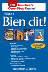 Bien dit!  Teacher's One-Stop Planner Level 2-9780030920042
