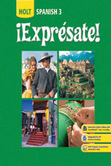 ¡Exprésate!  Interactive Online Edition with Grammar Tutor 6-Year Level 3-9780030943034