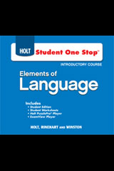 Elements of Language  Student One-Stop DVD-ROM Grade 6-9780030947544