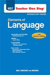 Elements of Language  Teacher One-Stop DVD Grade 6-9780030953651