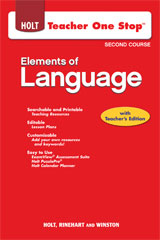 Elements of Language  Teacher One-Stop DVD Grade 8-9780030953880