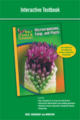 Interactive Textbook A: Microorganisms, Fungi, and Plants-9780030958120