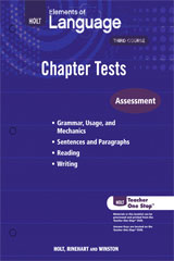 Elements of Language  Chapter Test Teacher Workbook Grade 9-9780030991554