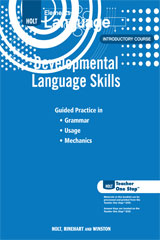 Elements of Language  Developmental Language Skills Grade 6-9780030991950