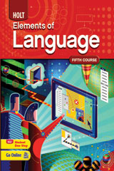 Elements of Language  Chapter Test in Standardized Test Formats-9780030993169