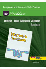 Holt Traditions Warriner's Handbook  English Workshop Assessment Booklet Sixth Course-9780030993466