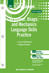 Elements of Language  Grammar Usage and Mechanics Language Skills Practice Grade 12-9780030994197