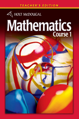 Holt McDougal Mathematics  Teacher's Edition Course 1-9780030994319
