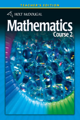 Holt McDougal Mathematics  Teacher's Edition Course 2-9780030994326