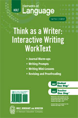 Elements of Language  Think As A Writer Interactive Writing Worktext Grade 12-9780030995651