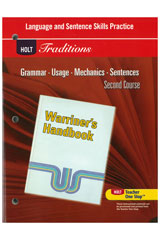 Holt Traditions Warriner's Handbook  Language and Sentence Skills Practice Second Course Grade 8 Second Course-9780030997037
