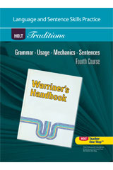 Holt Traditions Warriner's Handbook  Language and Sentence Skills Practice Fourth Course Grade 10 Fourth Course-9780030997051