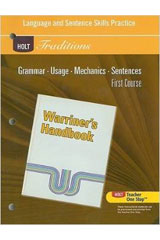 Holt Traditions Warriner's Handbook  Developmental Language and Sentence Skills Guided Practice Grade 7 First Course-9780030997099