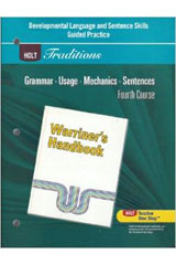 Holt Traditions Warriner's Handbook  Developmental Language and Sentence Skills Guided Practice Grade 10 Fourth Course-9780030997112
