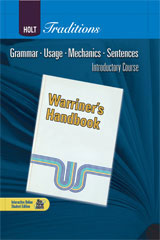 Holt Traditions Warriner's Handbook  Chapter Tests With Answer Key Introductory Course-9780030998430