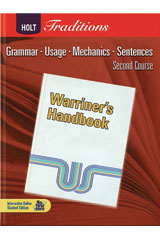 Holt Traditions Warriner's Handbook  Chapter Tests With Answer Key Grade 8 Second Course-9780030998454