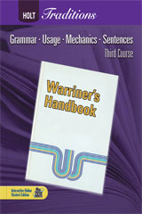 Holt Traditions Warriner's Handbook  Chapter Tests With Answer Key Third Course Grade 9-9780030998461
