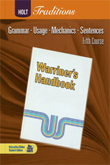 Holt Traditions Warriner's Handbook  Chapter Tests With Answer Key Fifth Course Grade 11-9780030998485