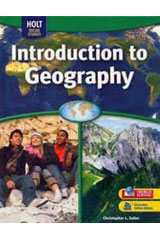 Geography Middle School, Introduction to Geography  Student One Stop CD-ROM-9780030998713