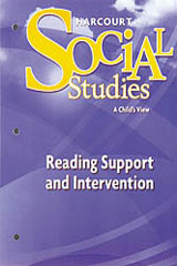 Harcourt Social Studies  Reading Support and Intervention Grade 1-9780153494277