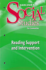 Harcourt Social Studies  Reading Support and Intervention Grade 3-9780153494291