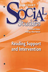 Harcourt Social Studies  Reading Support and Intervention Grade 5 US: Making a New Nation-9780153494314
