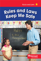 Harcourt Social Studies  Reader 6-pack Below-Level Grade 1 Rules and Laws Keep Me Safe-9780153527203