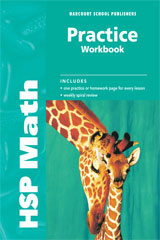 Harcourt School Publishers Math  Practice Workbook Student Edition Grade 2-9780153567599