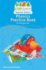 Storytown  Phonics Practice Book Teacher Edition Grade K-9780153593062