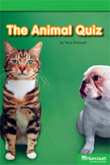 Storytown  Readers Teacher's Guide Above-Level Animal Quiz-9780153628177