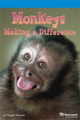 Storytown  Readers Teacher's Guide On-Level Monkeys: Making a Difference-9780153632792