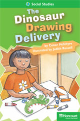Storytown  Readers Teacher's Guide Above-Level The Dinosaur Drawing Delivery-9780153634536