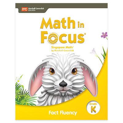 Math in Focus  Singapore Math Fact Fluency Grade K-9780358105138