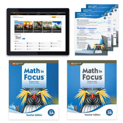 Math in Focus with 1 Year Digital Essential Teacher Resource Package Grade 8-9780358229407