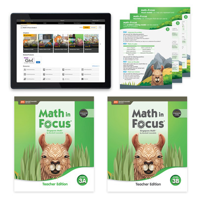 Math in Focus CCSS with 1 Year Digital Essential Teacher Resource Package Grade 3-9780358229469