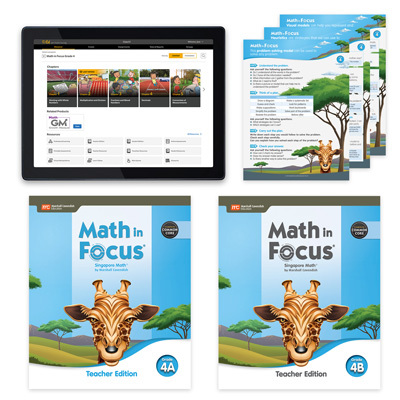 Math in Focus CCSS with 1 Year Digital Essential Teacher Resource Package Grade 4-9780358229476