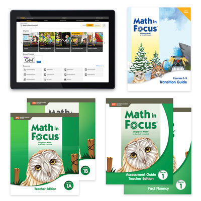 Math in Focus with 1 Year Digital Premium Teacher Resource Package Grade 6-9780358231233