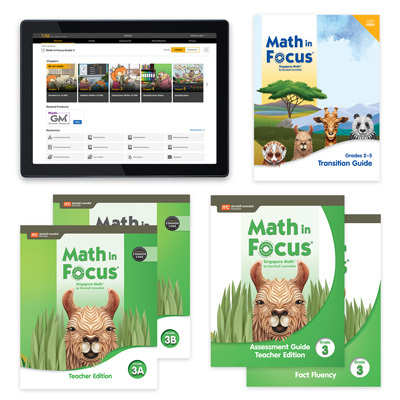 Math in Focus CCSS with 1 Year Digital Premium Teacher Resource Package Grade 3-9780358231301