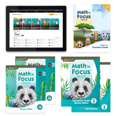 Math in Focus CCSS with 1 Year Digital Premium Teacher Resource Package Grade 5-9780358231325