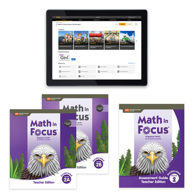 Math In Focus CCSS with 1 Year Digital Premium Teacher Resource Package Grade 7 Accelerated-9780358231363