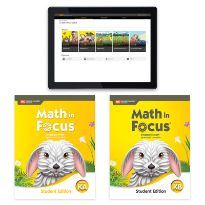 Math in Focus with 1 Year Digital Essential Student Resource Package Grade K-9780358232063