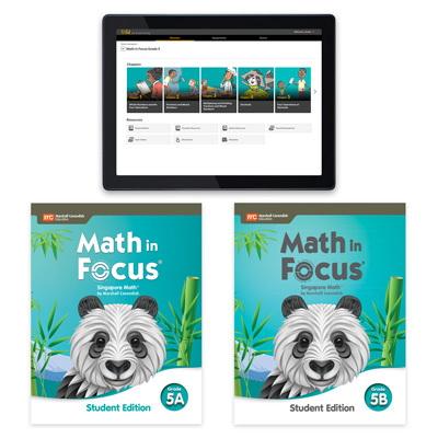 Math in Focus with 1 Year Digital Essential Student Resource Package Grade 5-9780358232117