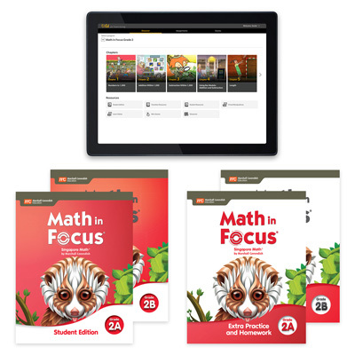 Math in Focus with 1 Year Digital Premium Student Resource Package with Extra Practice and Homework Grade 2-9780358233237