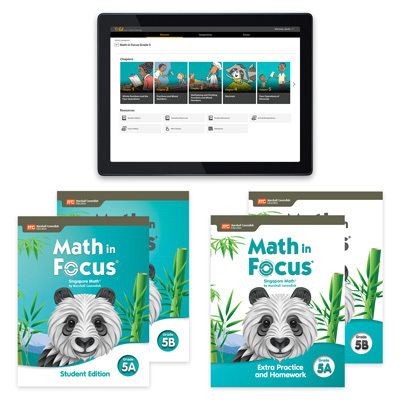 Math in Focus with 1 Year Digital Premium Student Resource Package with Extra Practice and Homework Grade 5-9780358233268