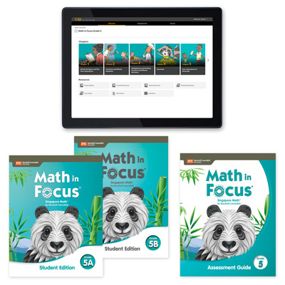 Math in Focus with 1 Year Digital Premium Student Resource Package with Assessment Grade 5-9780358235262