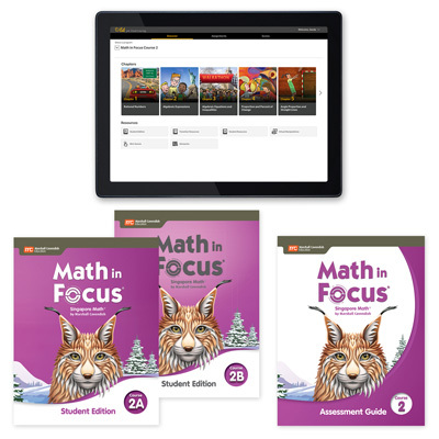 Math in Focus with 1 Year Digital Premium Student Resource Package with Assessment Grade 7-9780358235286