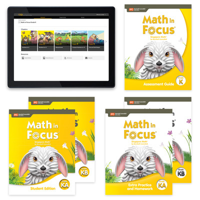 Math in Focus with 1 Year Digital Premium Plus Student Resource Package Grade K-9780358236016