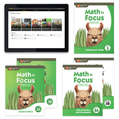 Math in Focus with 1 Year Digital Premium Plus Student Resource Package Grade 3-9780358236047