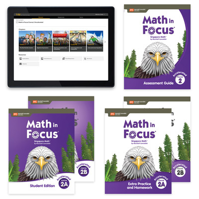 Math in Focus with 1 Year Digital Premium Plus Student Resource Package Grade 7 Accelerated-9780358236108